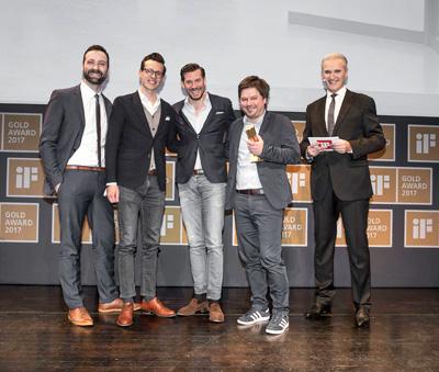 """Anlässlich der 63. iF Design Award Verleihung in der Münchner BMW-Welt am 10. März 2017 gingen gleich fünf der international begehrten Auszeichnungen an Loewe. Das Fernsehgerät Loewe bild 7 und das Lautsprechersystem Loewe klang 5 erhielten den begehrten iF Gold Award. In der Disziplin """"Produkt"""" wurden Loewe bild 3, der klang 5 subwoofer sowie die Benutzeroberfläche Loewe os mit dem iF Design Award geehrt."""