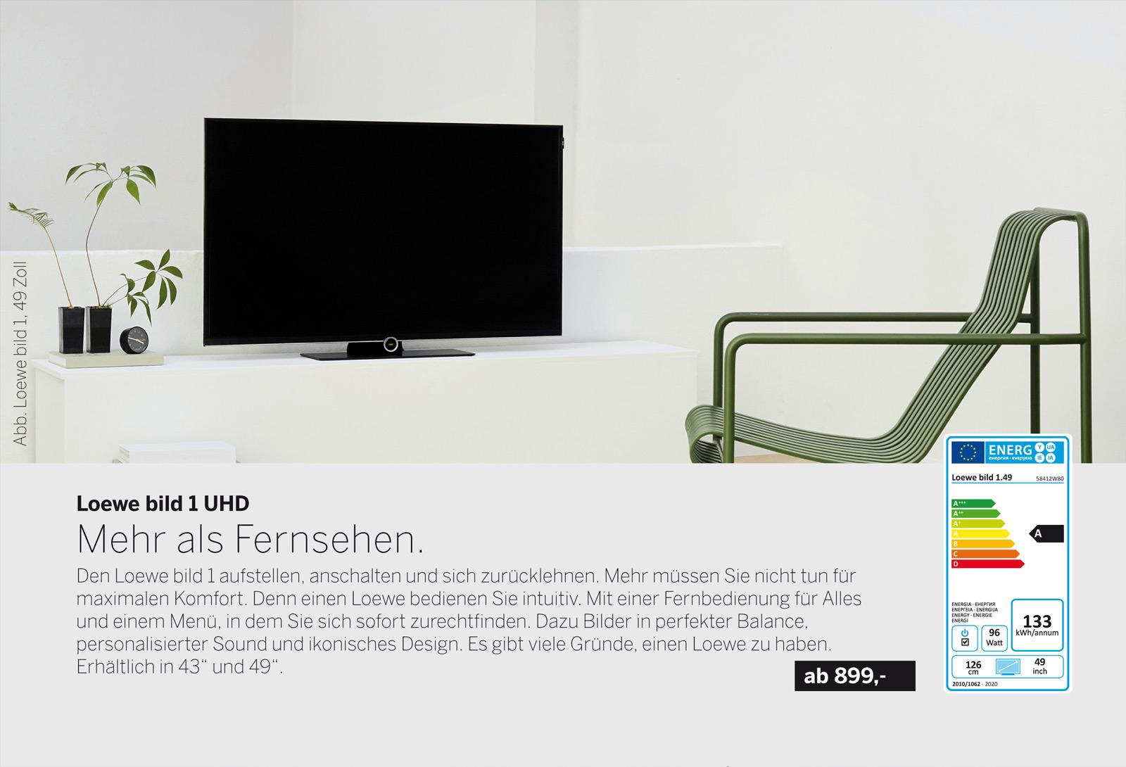 Loewe bild 1 Fernseher. Bestes Bild und kraftvoller Klang. Mehr als Fernsehen. Multimedia-Streaming in Perfektion. Erhältlich in UHD/4k und Full-HD.